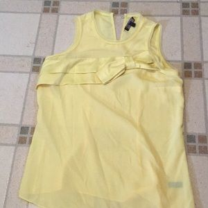 Bow detail yellow tank top from the limited
